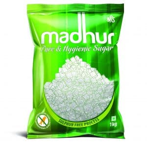 Madhur Pure and Hygienic Sugar is pack of refined sugar.Sulphur-free refining process ensures Madhur is healthy for consumption